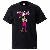 """[WWE LEGEND]ブレット """"ザ・ヒットマン"""" ハートTシャツ(黒)"""
