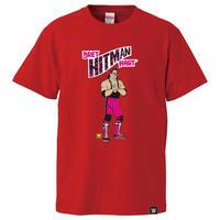 """[WWE LEGEND]ブレット """"ザ・ヒットマン"""" ハートTシャツ(赤)"""