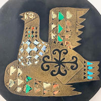 Resin tribal bird wall plate 70's - 80's