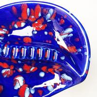 Ceramic abstract ash tray 1976's