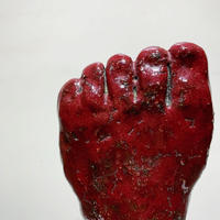 Handmade ceramic foot