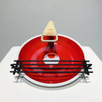 Ceramic ashtray with iron legs 50's