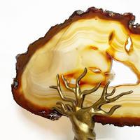 Agate brass tree sculpture