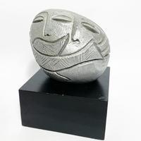 Plaster face sculpture 1985's