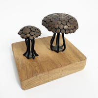 Iron mushroom sculpture (2SET)