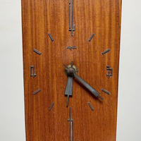 Wooden and brass table clock 50's