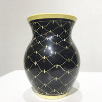 Net pattern ceramic vase 50's