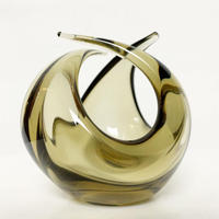 Glass twisted sculpture