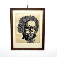 Beethoven face lithograph