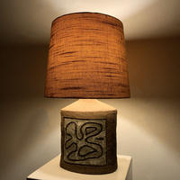 Abstract design ceramic table lamp
