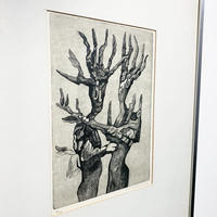 Wood monster lithograph 1983's