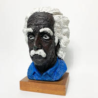 Hand painted plaster Einstein