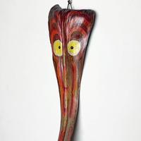 Hand painting bark tree mask (long)