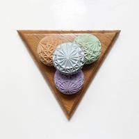 Handmade triangle sculpture