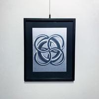 Foil etching op wall art 70's