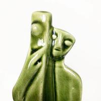 Ceramic alien sculpture