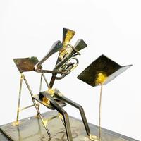 Handmade metal tuba player 1996's