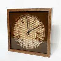 Wood & rattan wall clock 1970's