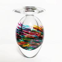 Colorful glass sculpture vase 1996's