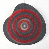 Sunburst caramic wall plate 60's - 70's