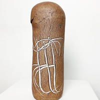 Ceramic tribal art sculpture