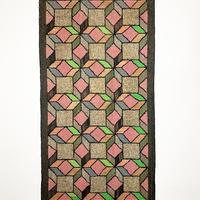 Handmade geometric ragrug