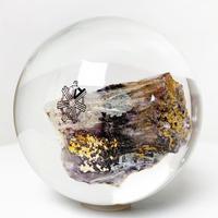 Lucite sphere sculpture