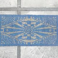 Geometric cotton rug 1930's