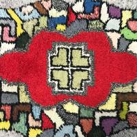 Colorful geometric  shag rug 70's - 80's