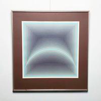 Optical gradation lithograph 1974's