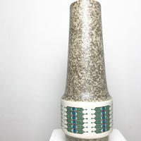 Tribal pattern big ceramic vase 50's - 60's