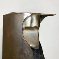 Handmade bronze face sculpture 60's - 70's