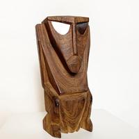 Carved wood tribal spirits 1972's
