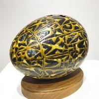 Aluminia ceramic egg vase 60's