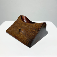 Carved wood ashtray