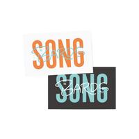 """""""SONG""""ステッカー(2枚セット)"""