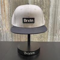 【BRIXTON 】GATE Ⅲ MP SNAPBACK(HEATHER GREY/BLACK)