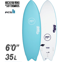 "【MICK FANNING】THE TWIN DHD 6'0"" FCS2FIN付き ISLANDS BLUE"