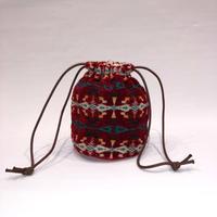 【PENDLETON】 C/VELVET STRING BAG / RED (PDT-000-184003)