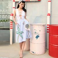 TA-009 Flamingo Playful Skirt