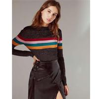 TA-021 Black Glitter Mulch Line Knit