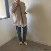 Taffeta×Eco Fur Reversible Vest