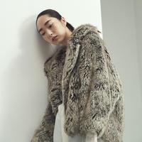 Gradation Eco Fur Jacket