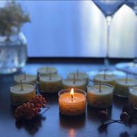 キンモクセイ最高級オーガニックblendアロマティーライトsoy candle 10個セット
