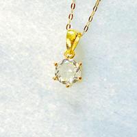 K18宝石質最高ホワイトトパーズnecklace ファセットカットAAA