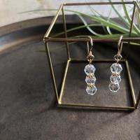 宝石クリスタル 最高級水晶 -Diana- 14kgfフックピアスorイヤリング -Diana-