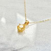 K18 宝石質シトリンネックレスAAA 富の繁栄の光