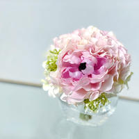 桜色のeleganceラナンキュラスの夢 水換えなしのずっと綺麗な花瓶付きアートフラワー