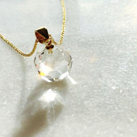 賢者の石 天然水晶 〜銀河の光〜14kgfゴールドネックレス 最高品質