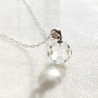 賢者の石 天然水晶〜銀河の光〜silver925シルバーネックレス 最高品質